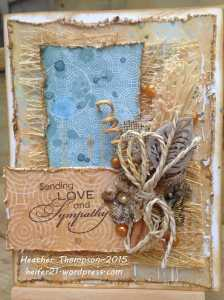 Sending Love and sympathy card 1