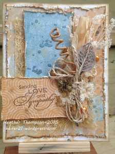 Sending Love and sympathy card 2