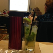 mojito and coffee just what a girl needs for the last class off the day.